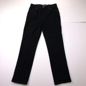 Gloria Vanderbilt Size 6P Black Straight Jeans